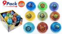 Planet Putty Galaxy Solar System Stress Slime (Pack of Planets Assorted) by JA-RU. Metallic Colors Science Game Party Favors Toys for Girls & Boys. 5459-9p