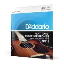 D'Addario EFT16 Flat Tops Phosphor Bronze Acoustic Guitar Strings, Light, 12-53