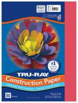 """Tru-Ray Heavyweight Construction Paper, Red, 9"""" x 12"""", 50 Sheets"""