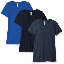 Clementine Women's Petite Plus 3-Pack Ideal Short Sleeve Crewneck T-Shirts