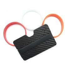 STARIM Minimalist Carbon Fiber Slim Credit Card Holder Wallet & RFID Blocking Money Clip