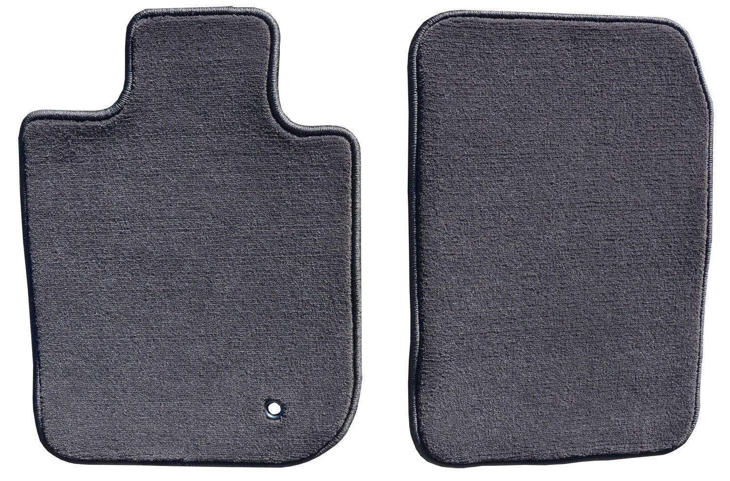 Connected Essentials Tailored Custom Fit Heavy Duty Automotive Carpet Boot Mat Boot Liner for Civic 2006-2008 Black with Grey Trim