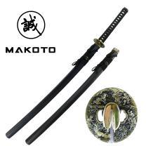 "MAKOTO Handmade Sharp Katana Black Samurai Sword 40"""
