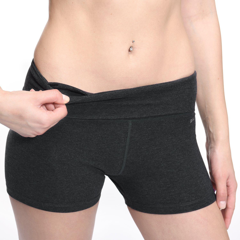 BALEAF Women's High Waist Swim Yoga Volleyball Shorts Running Workout Tennis Athletic Shorts Inner Pocket Charcoal Size XL