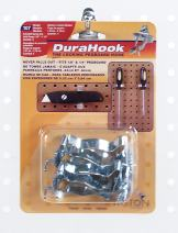 Triton Products 3/4 in. to 1-1/4 in. Hold Range Zinc Plated/Chromate Dipped Steel Extended Spring Clip for DuraBoard or 1/8 in. and 1/4 in. Pegboard, 3 Pack