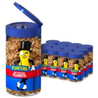 Planters Pop & Pour Dry Roasted Peanuts, 7 oz. Jar (Pack of 12)