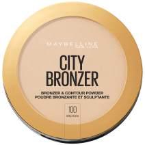Maybelline New York City Bronzer Powder Makeup Bronzer and Contour Powder, 100, 0.32 Ounce