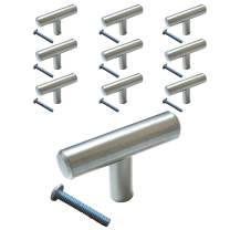 (10 Pack, L: 2 Inch) Swiss Kelly Hardware Stainless Steel Kitchen Cabinet Handles Drawer Pulls Knobs