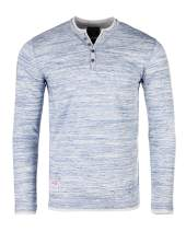 ZIMEGO Men's Long Sleeve Double Layer Neck and Hem Fashion Casual Henley Shirts