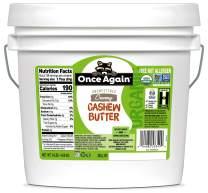 Once Again Organic, Creamy Cashew Butter- Unsweetened - 9 lb Bucket