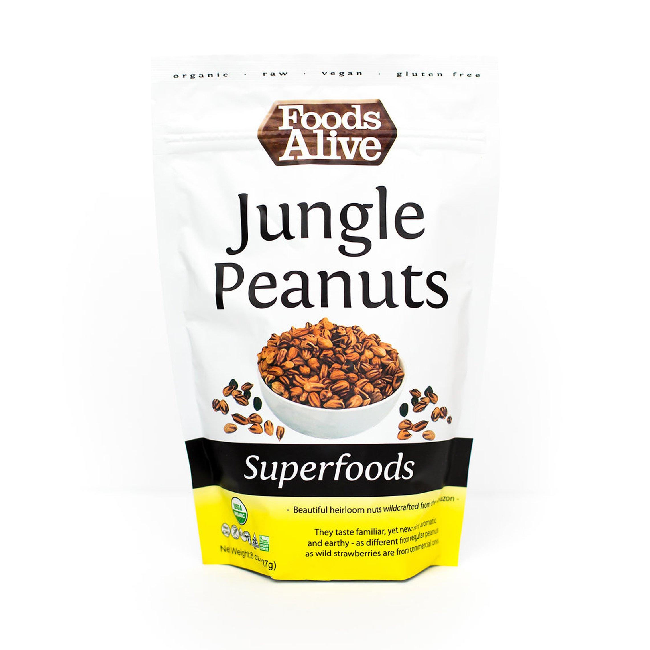 Wild Jungle Peanuts, Organic, 8oz (3-Pack)
