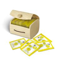 N Nabila K Biodegradable Moist Towelettes, Individually Wrapped, Refreshing, Natural Ingredients, TSA Approved Travel Size, 20 count, Lemon Fresh