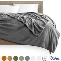 Bare Home Kids Microplush Fleece Blanket - Twin/Twin Extra Long - Ultra-Soft Velvet - Luxurious Fuzzy Fleece Fur - Cozy Lightweight - Easy Care - All Season Premium Bed Blanket (Twin/Twin XL, Grey)