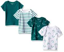 Hanes Girls' Ultimate Baby Flexy 4 Pack Short Sleeve Crew Tees