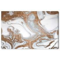"""The Oliver Gal Artist Co. Abstract Wall Art Canvas Prints 'Black Rose Nights' Home Décor, 30"""" x 20"""", Bronze, White"""