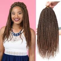 8Pcs 18inch 30stands Senegalese Twist Crochet Hair Braids Small Havana Mambo Twist Crochet Braiding Hair Low Temperature Fiber Synthetic Crochet Hair Extensions (1B/30)