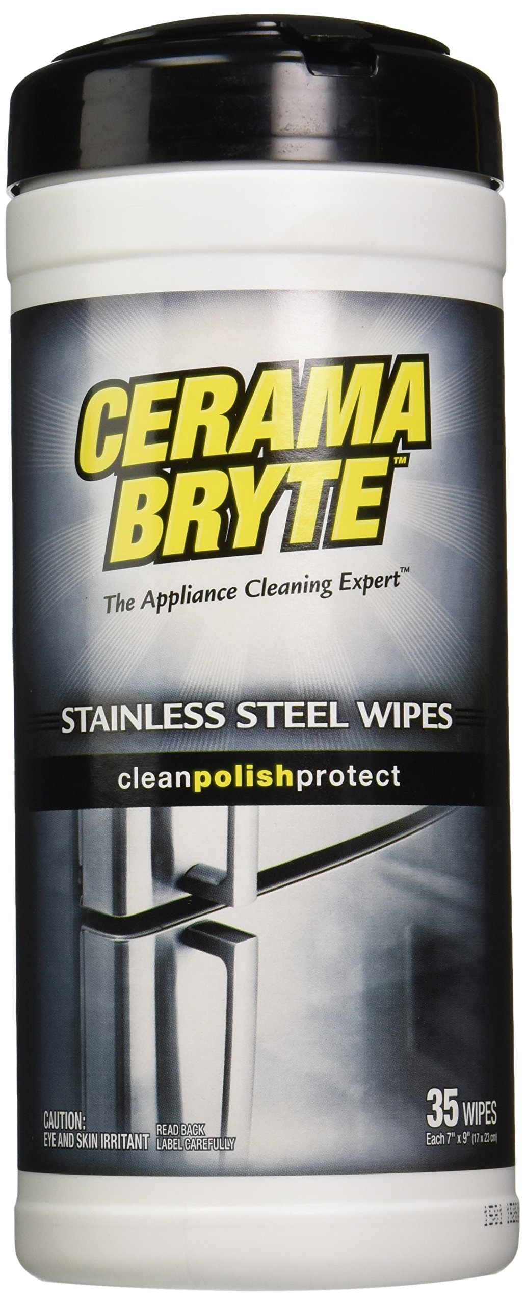 (2 Pack) Cerama Bryte Stainless Steel Cleaner Polish Cleaning Wipes, 2 x 35-ct