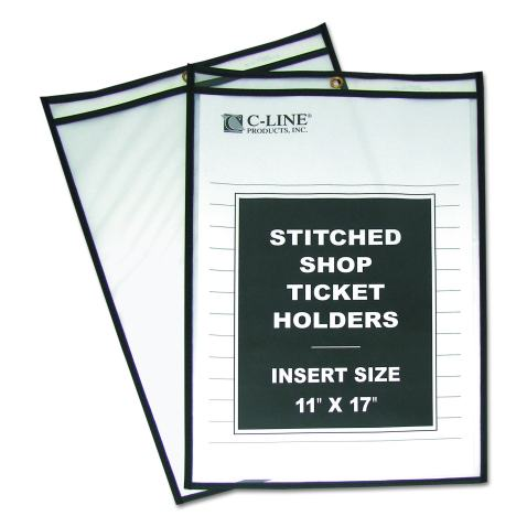 25//Case 6 x 9 Stitched Job Ticket Holders Short Side Opening Red