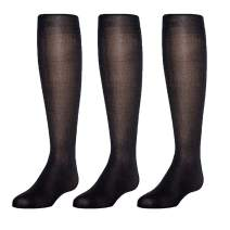 Mallary by Matthew 3-Pack Girls Sheer Pantyhose with Spandex (Sheer Toe)