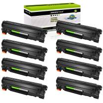 GREENCYCLE 8PK Replacement Compatible for HP 36A CB436A Black Mono Laser Toner Cartridge Ink use in Laserjet M1522n MFP M1522nf MFP P1505 P1505n M1120 MFP M1120n MFP M1522 MFP 1522F MFP MFP M1550
