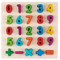 Toy To Enjoy Wooden Number Puzzle - Number Learning Board Toy - Ideal for Early Educational Learning for Kindergarten Toddlers & Preschools