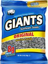 GIANTS Original Salted Jumbo Sized Sunflower Seeds 5.75-Ounce Bags (Pack of 12)