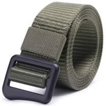 "AXBXCX Tactical Belt 1.5"" Men's Nylon Belt with Alloy Heavy-Duty Quick-Release Buckle"