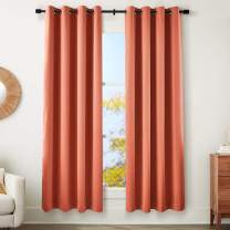 """AmazonBasics 99% Room Darkening Theatre Grade Heavyweight Window Panel with Grommets and Thermal Insulated, Noise Reducing Liner - 52"""" x 84"""", Terracotta"""