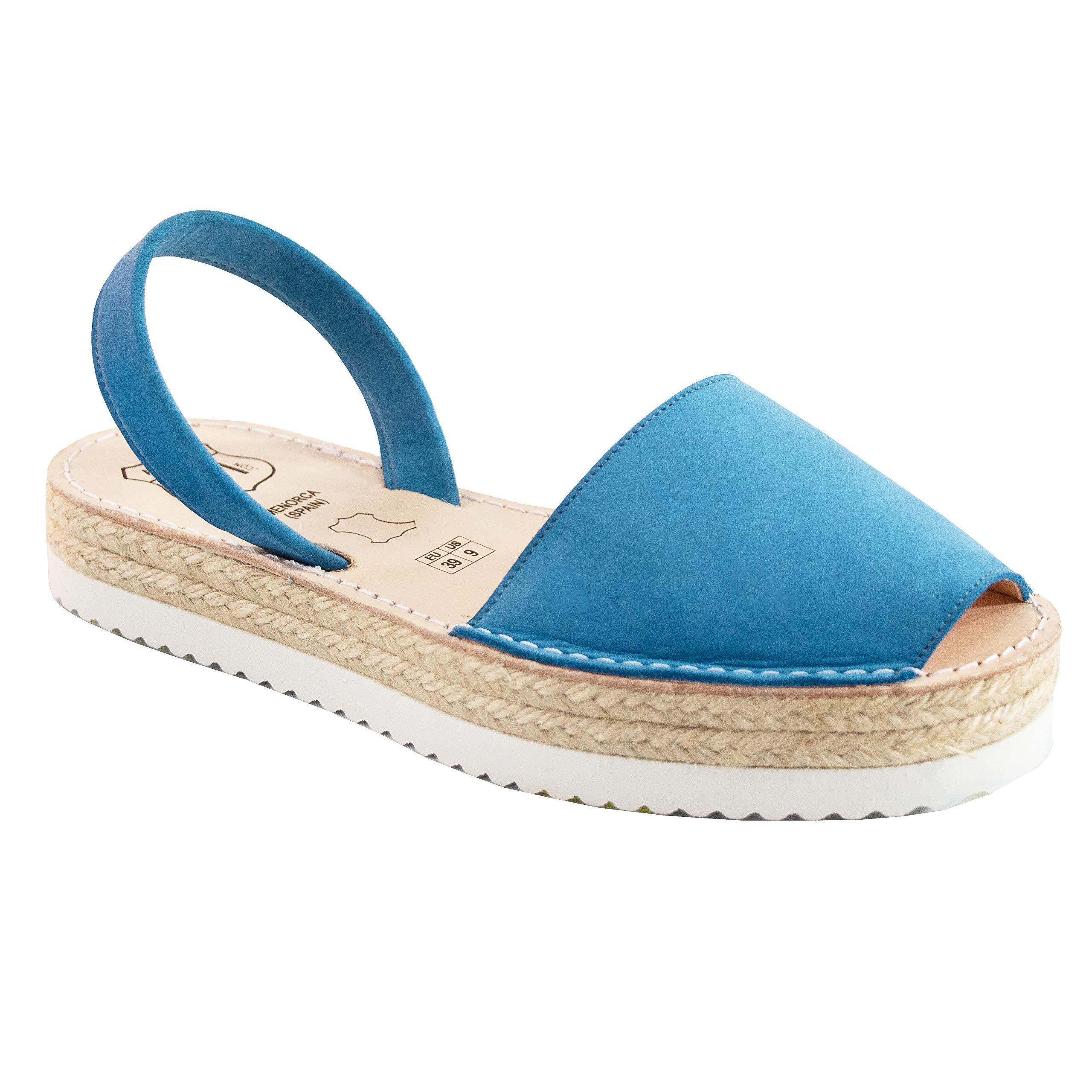 AVARCAS 101 Platforms - Artisan-Made Leather Espadrilles Avarca Sandals for Women