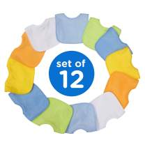 Neat Solutions Boy 12 Pack Water Resistant Bib Set