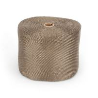 "Design Engineering 010135 Titanium 6"" x 100' Exhaust Heat Wrap with LR Technology"