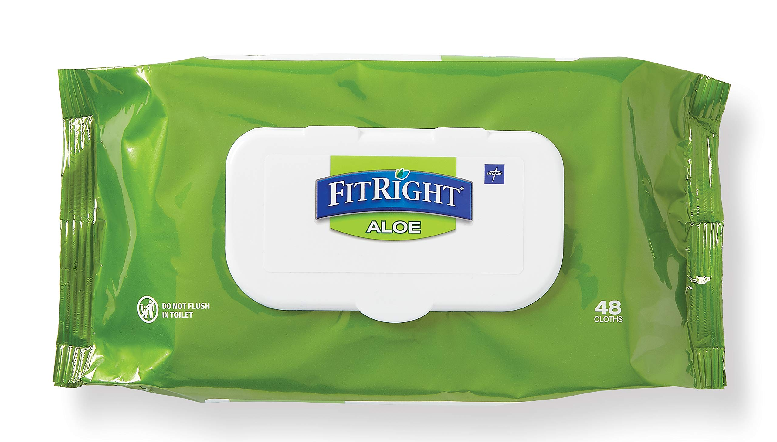 FitRight Aloe Personal Cleansing Cloth Wipes, Scented, 576 Count, 8 x 12 inch Adult Large Incontinence Wipes