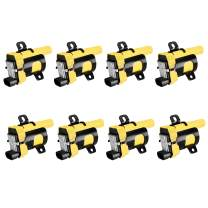 ENA Heavy Duty Round Ignition Coil Pack Set of 8 Compatible with 19999-2007 GMC Sierra 1500 5.3L 2003-2007 Chevrolet Express 2500 3500 6.0L