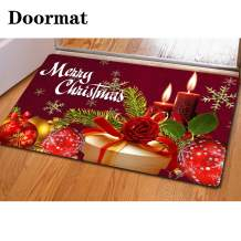 chaqlin Christmas Thick Mat for Kitchen Livingroom Machine Washable Comfort Floor Pad