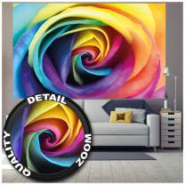 Poster – Rainbow Rose – Multicolored Wallpaper Floral Mural Natural Colorful Design Posters Roses Decoration Colors Decor (55 x 39.4 Inch/ 140 x 100 cm)