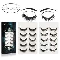 False Eyelashes - 10 Pair Multipack Natural 3D False Eyelashes Natural Look For Makeup Eyelashes Extension (Black Style)