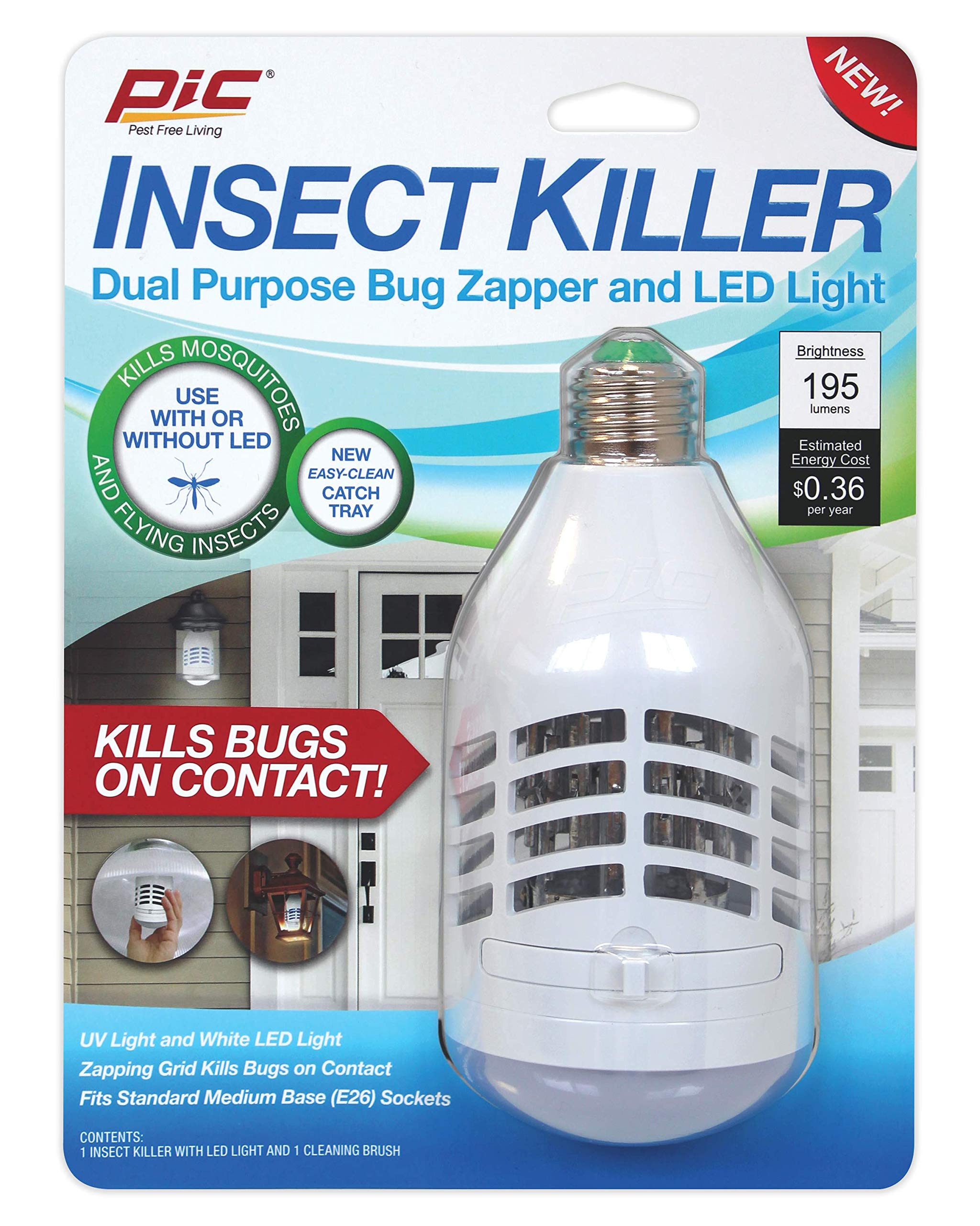 PIC Insect Killer LED & Bug Zapper (IKC)