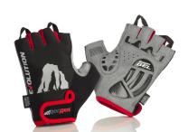 RocRide Cycling Gloves with Gel Padded Protection. Road and Mountain Biking. Half Finger with Pull Tabs. Men, Women and Children Sizes.