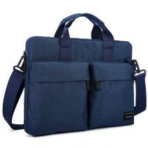 Cartinoe 11 11.6 inch Laptop Shoulder Bag with ANTI-RFID Pocket Briefcase for Men Women Water Resistant Nylon Laptop Messenger Bag for Business Work School, Blue