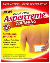 Aspercreme Odor Free Warming Pain Relief Patch With Soothing Warmth, 5 Count