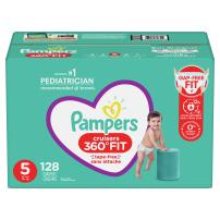 Diapers Size 5, 128 Count - Pampers Pull On Cruisers 360° Fit Disposable Baby Diapers with Stretchy Waistband, ONE Month Supply (Packaging May Vary)