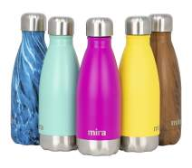 MIRA 12 oz Stainless Steel Vacuum Insulated Kids Water Bottle - Double Walled Cola Shape Thermos - 24 Hours Cold, 12 Hours Hot - Reusable Metal Water Bottle - Leak-Proof Sports Flask - Fuchsia Pink