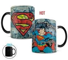 DC Comics Originals - Superman - Retro Logo - Morphing Mugs Heat Sensitive Mug – Ceramic Color Changing Heat Reveal Coffee Tea Mug - 11oz Large Drinkware