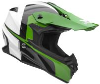 Vega Helmets VF1 Lightweight Dirt Bike Helmet – Off-Road Full Face Helmet for ATV Motocross MX Enduro Quad Sport, 5 Year Warranty (Hi-Vis Green Stinger Graphic, X-Small)