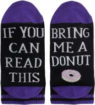 IF YOU CAN READ THIS Funny Saying Ankle Low Cut Socks, No Show Coffee Donut