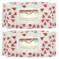 Beauty Concepts - 2 Pack (60 Count Each) Watermelon Detoxifying Facial Wipes