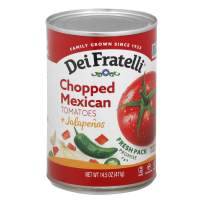 Dei Fratelli Chopped Mexican Tomatoes & Jalapenos - All Natural - 5th Generation Recipe (14.5 oz. cans; 6 pack