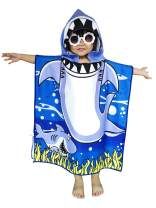 Athaelay Ultra Breathable Microfiber Hooded Beach Towel for Kids, Toddlers Bath/Pool/Swim Poncho Cover-ups Swimwear, Shark
