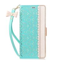 iPhone 8 Plus Case,iPhone 7 Plus Case, WWW [ Mirror Series] RFID-Resisting PU Leather Case Kickstand Flip Case with Card Slots and Mirror for iPhone 7 Plus/8 Plus Mint Green