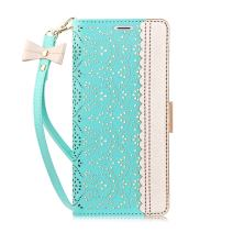 WWW iPhone SE 2020 Case,iPhone 8 Case, iPhone 7 Case, [ Mirror Series] RFID-Resisting PU Leather Case Kickstand Flip Case with Card Slots and Mirror for iPhone SE 2020/8/7 (4.7 Inch) Mint Green